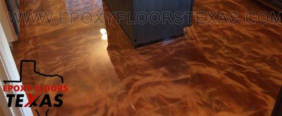 Metallic Epoxy Floor Kitchen
